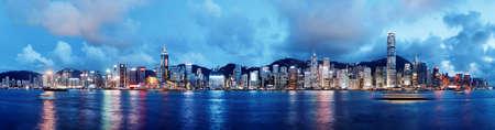 夜 Hong Kong 写真素材