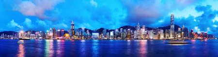 Hong Kong di notte Archivio Fotografico - 37244062