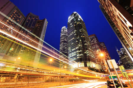 night traffic: Hong Kong Night Traffic Stock Photo