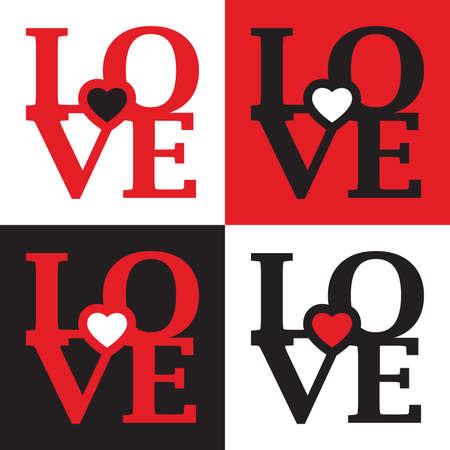 true love: Seamless set of LOVE