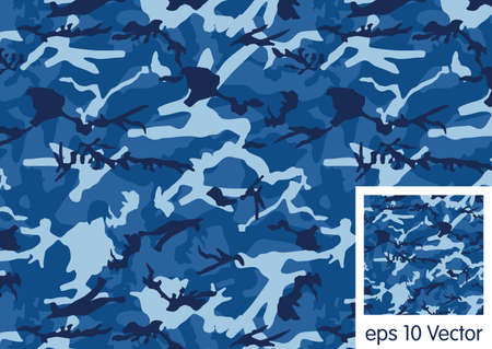 Ocean camouflage patroon vector Stock Illustratie