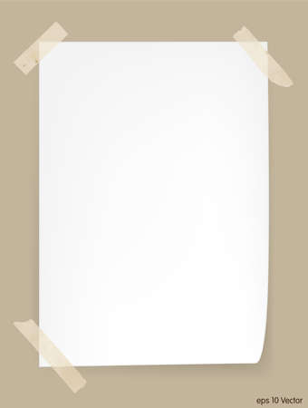 one sheet: White A4 size paper sheet, Vector