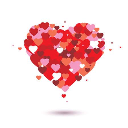 true love: Red Heart Vector