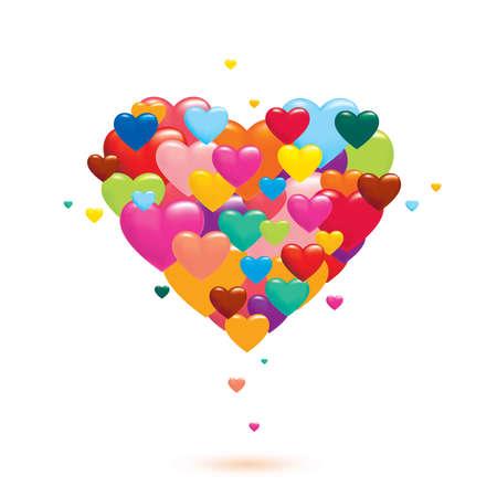 corazones de amor: Corazones del amor Vectores