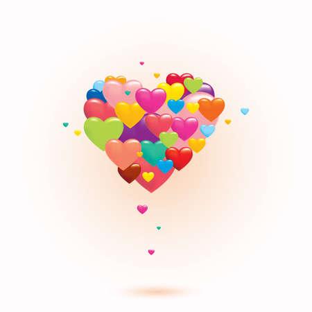 true love: Love hearts