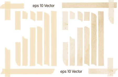 páska: Sada vektorové ilustrace lepící pásky Ilustrace
