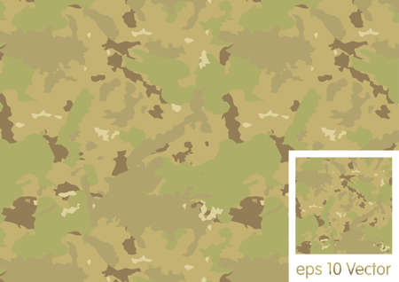 Multicam Camouflage Combat Pattern Vector Illustration