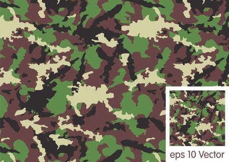 Woodland camouflage pattern Vector
