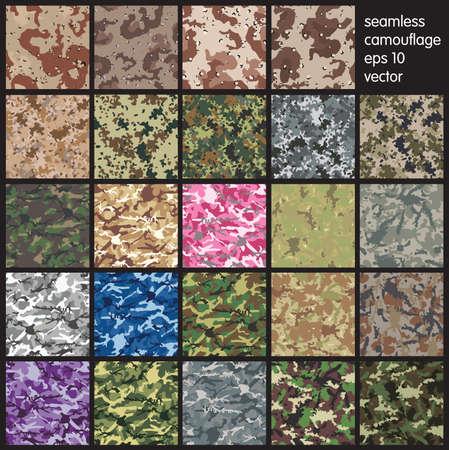 camouflage: Conjunto incons�til del camuflaje vector patr�n