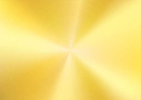 Goud geborsteld metaal achtergrond, Vector Stock Illustratie