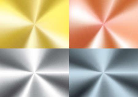 Set of  Brushed metal background, vector  イラスト・ベクター素材