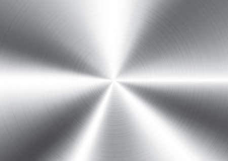 Vector illustration of brushed metal background Illustration