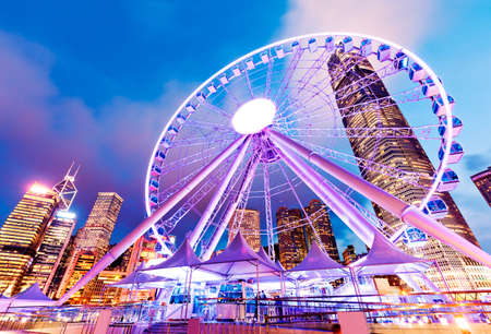 Hong Kong bei Nacht Standard-Bild - 39447602