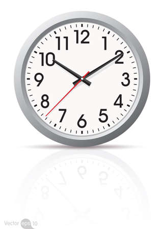 isolated  on white: clock vector