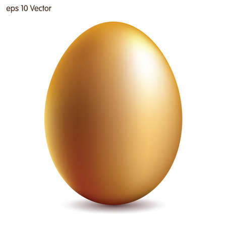 Golden egg. Vector illustration