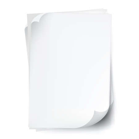 White typing paper sheets Illustration