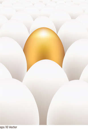 golden egg: Golden egg standing out from the others