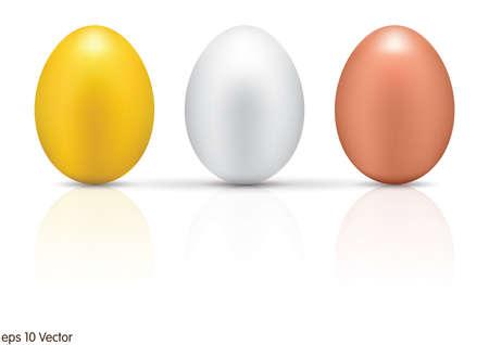 metallic: Metallic eggs set