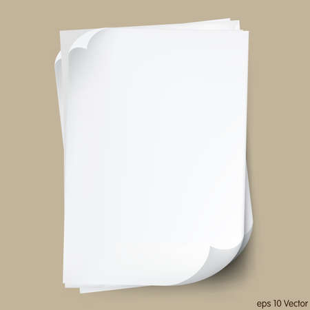 paper sheets: White typing paper sheets Illustration