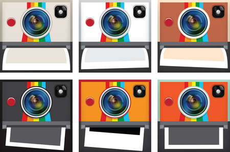 Set of instant camera apps icon