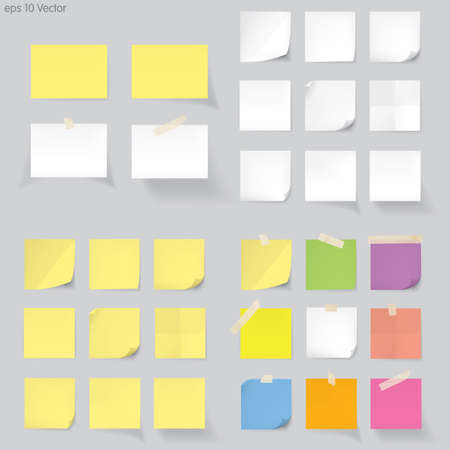memo board: Set of memo Vector
