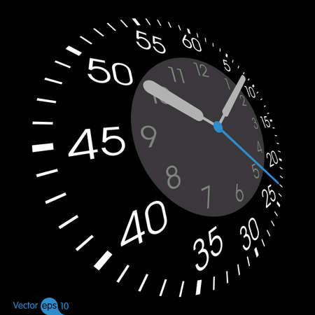 illustration of a clock. Vector Vector