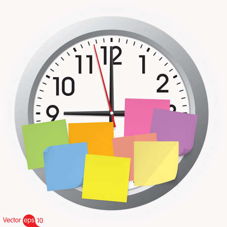 hyperspace: Clock with a sticky note