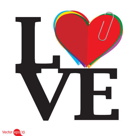 liefde: liefde Stock Illustratie