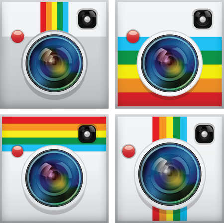 Set of camera apps icon Vector