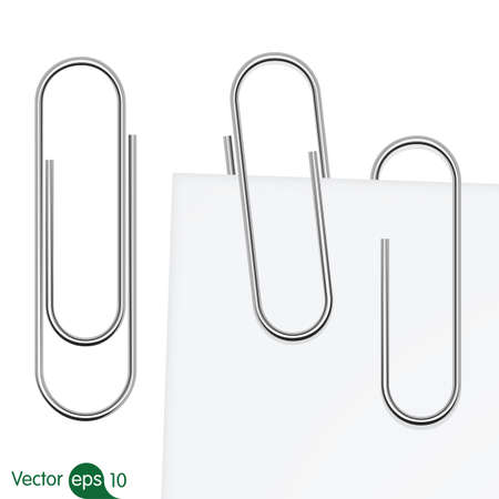 paperclip: Paperclip set. Vector