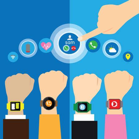 illustration vector: smart watches