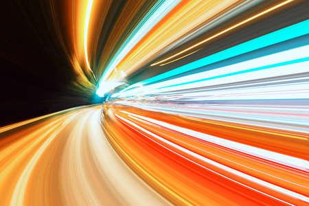 licht: Nacht-Verkehr Lizenzfreie Bilder