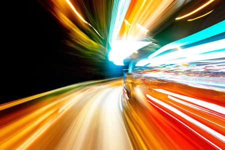 nacht verkeer Stockfoto