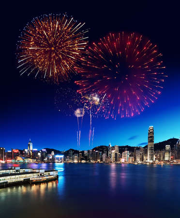 Fireworks Display in Hong Kong