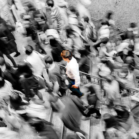 blurred people: rush hour