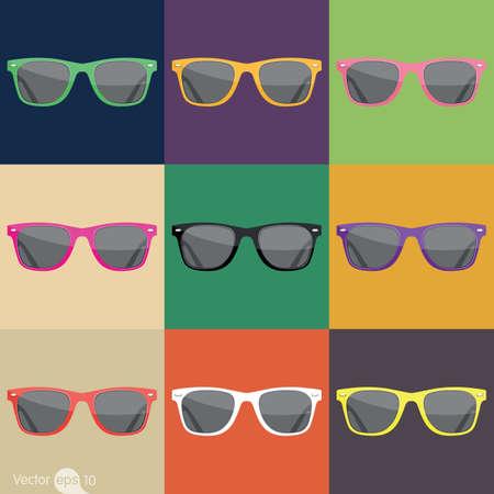 anteojos de sol: gafas de sol Vectores
