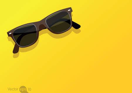 vidrio: gafas de sol Vectores