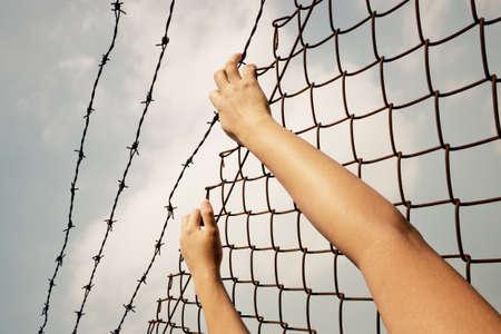 carcel: mano en la c�rcel Foto de archivo
