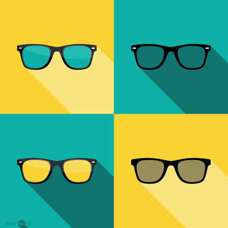 ray ban: Sunglasses icon Illustration