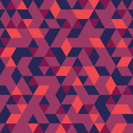 Motif continu de formes géométriques