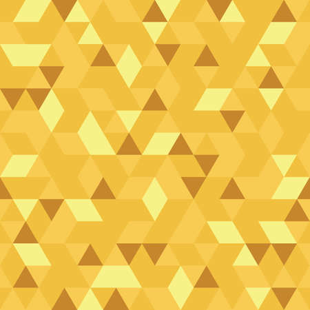 pattern of geometric shapes: Golden Seamless Pattern of geometric shapes Illustration