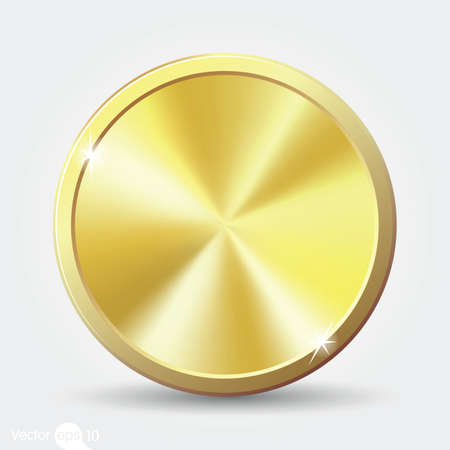 shiny button: gold coin