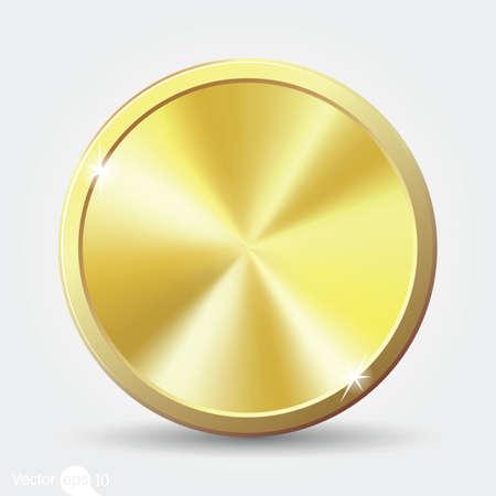 goldmedaille: Goldmünze