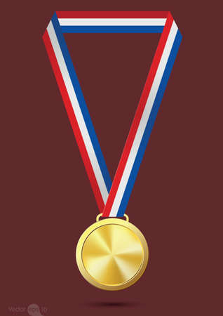 medal: gold medal Illustration