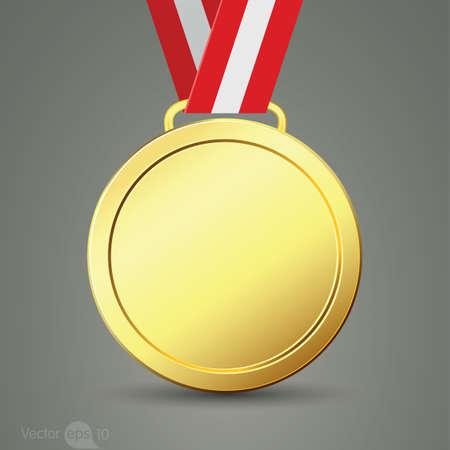 bestowal: gold medal Illustration