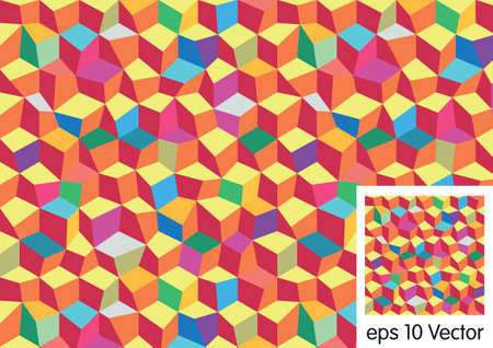 pattern of geometric shapes: Color Pattern of geometric shapes Illustration