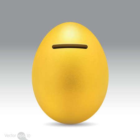 money box: Golden egg money box Illustration