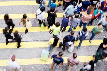 multitud gente: vida en la ciudad