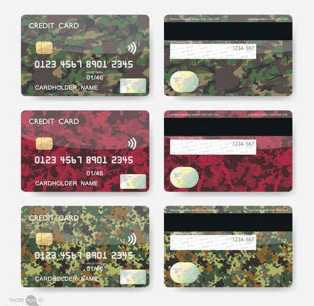 tarjeta visa: Formas geométricas Tarjetas de crédito