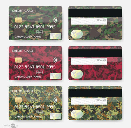 visa credit card: Geometric Shapes Credit Cards